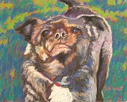 Yard Pastels Posters - And Your Little Dog Too Poster by Katrina West
