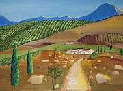 Andalucia Paintings - Andalucia Landscape by Andrew Harris