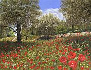 Realist Paintings - Andalucian Poppies by Richard Harpum