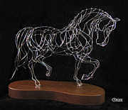 Horse Sculpture Prints - Andalusian - Piaffe Print by Vicki Crone
