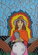 Granja Posters - Andean Moonchild Poster by Charles  Daley
