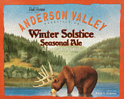 Winter Solstice Posters - Anderson Valley Poster by Cheryl Young