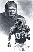 Pro Football Prints - Andre Johnson Print by Jonathan Tooley