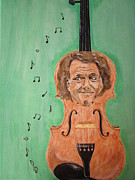 Ballroom Painting Originals - Andre Rieu And His Violin by Jeepee Aero