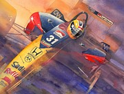 Indy Car Painting Framed Prints - Andre Framed Print by Robert Hooper