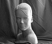 Portraits Sculptures - Andrea by Clay Workman