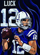 Andrew Luck Print by Chris Eckley