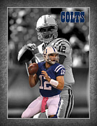 Indianapolis Art - Andrew Luck Colts by Joe Hamilton