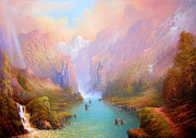 Tolkien Prints - Anduin The Great River Print by Joe  Gilronan