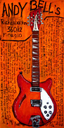 Rickenbacker Prints - Andy Bells 12 string Rickenbacker Print by Karl Haglund