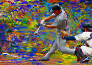 Baseball Paintings - Andy Dirks by Donald Pavlica
