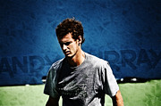 Action Reaction Posters - Andy Murray Poster by Nishanth Gopinathan