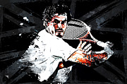 Wimbledon Tennis Mixed Media Posters - Andy Murray Poster by The DigArtisT