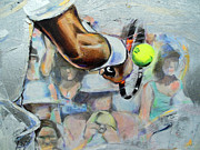 Wimbledon Painting Prints - Andy Murray - Wimbledon 2013 Print by Lucia Hoogervorst