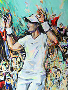 Wimbledon Painting Prints - Andy Murray - Winner Wimbledon 2013 Print by Lucia Hoogervorst