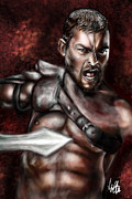 Spartacus Digital Art - Andy Whitfeld Spartacus by Vinny John Usuriello