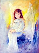 Supernatural Pastels Originals - Angel 01 by Ivica Petras