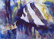 Fish Underwater Paintings - Angel and Unicorn by Carolyn Jarvis