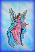 Colored Pencil Metal Prints - Angel Metal Print by Andrew Read