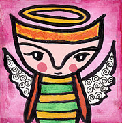Chihuahua Abstract Art Posters - Angel Boy #4 Poster by Jen Kelly Hirai