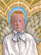 Evangelical Paintings - Angel Boy by Jacquelin Vanderwood