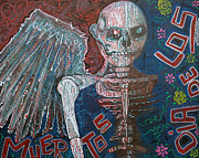 Skeleton Paintings - Angel De Los Muertos by Laura Barbosa