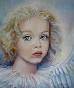 Angel Art Paintings - Angel by Elena Oleniuc