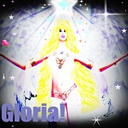 Gloria Digital Art - Angel Glorious by Ana Paula Oliveira