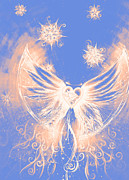 Christmas Gift Drawings - Angel II by Andrea Carroll