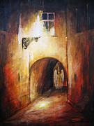 Angel In The Alley Print by Dariusz Orszulik