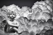 Composite Photographs Framed Prints - Angel in the Clouds Framed Print by Carolyn Marshall