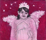 Anne Cameron Cutri Prints - Angel in training Print by Anne Cameron Cutri