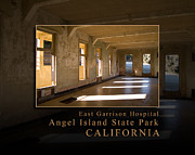 Nike Metal Prints - Angel Island State Park California  - East Garrison Hospital Metal Print by David Rigg