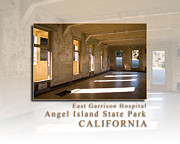 Sausalito Prints - Angel Island State Park California - East Garrison Hospital - HK Print by David Rigg
