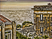 Sausalito Art - Angel Island State Park California Fort McDowell -  Barracks by the Bay by David Rigg
