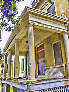Angel Island State Park California - Officers Row Housing - San Francisco Bay Print by David Rigg