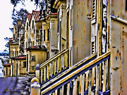 Sausalito Art - Angel Island State Park California - Officers Row Two by David Rigg