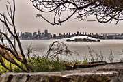 Nike Photo Prints - Angel Island State Park California  - San Francisco Bay - Alcatraz in the Fog - HDR Print by David Rigg