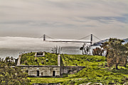 Nike Posters - Angel Island State Park in San Francisco Bay California  - Defending the Bay - HDR Poster by David Rigg