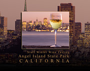 Nike Metal Prints - Angel Island State Park - Winter White Wine Tasting - San Francisco Bay California Metal Print by David Rigg