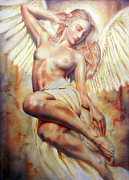 Angel Modern Art Posters - Angel Poster by Juan Jose Espinoza