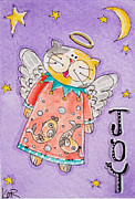 Artisan Made Framed Prints - Angel Kitty - Joy Framed Print by K Nicole Rogalski