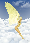 Nudes Digital Art - Angel Love by Joaquin Abella Ojeda