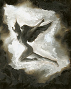 Beautiful Angel Paintings - Angel by Luis  Navarro