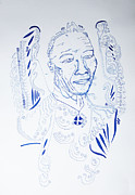 Jesus Drawings - Angel Madiba -  Nelson Mandela by Gloria Ssali