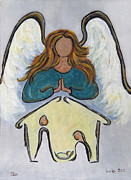 Decor Photography Painting Posters - Angel - Messenger of Joy Poster by Ella Kaye