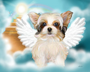 Rescue Mixed Media Posters - Angel Mindy Poster by Catia Cho