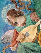 Guitarists Paintings - Angel Musician by Melozzo da Forli