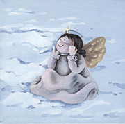 Christmas Angel Paintings - Angel by Natasha Denger