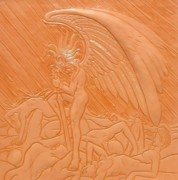 Death Reliefs Prints - Angel of Death at War Print by Ron Moses